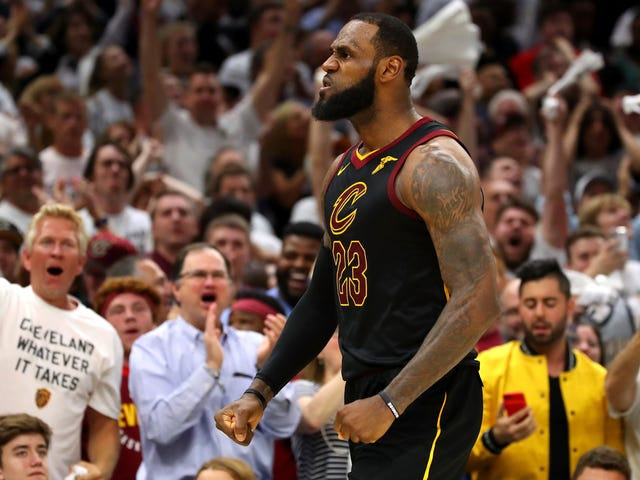 If That Was LeBron's Last Home Game With The Cavs, He Sure Made It Count