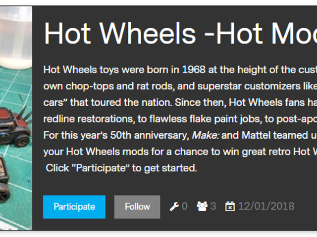 Make: Magazine Hot Wheels Hot Mods Contest