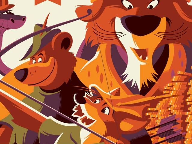 迪士尼的<i>Zootopia</i> , <i>Robin Hood</i> ,获得了一个色彩缤纷的新海报