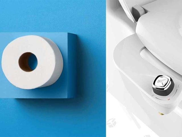 $ 46 के लिए टॉयलेट पेपर के 80 रोल्स खरीदें, या $ 27 के लिए एक बिडेट और कभी टॉयलेट पेपर दोबारा न खरीदें