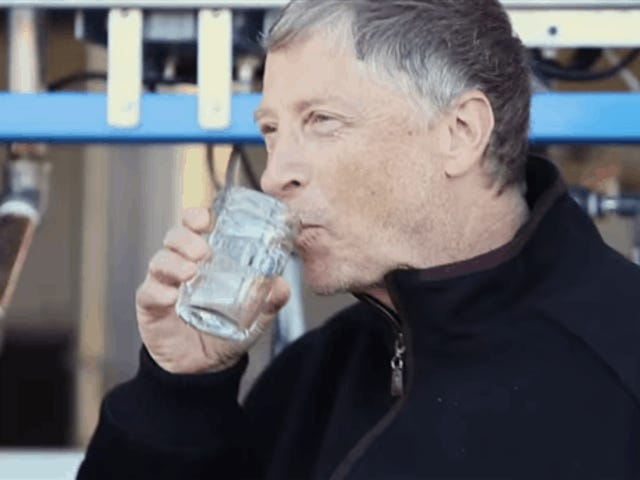Bill Gates Drinks Water Made From Human Poop