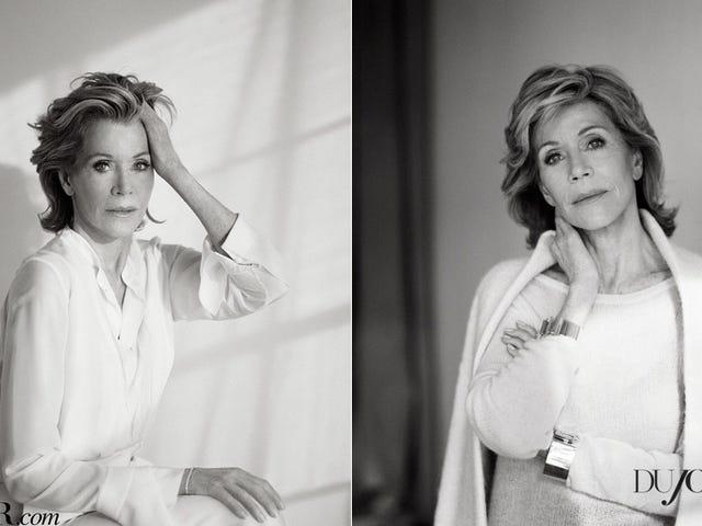 Jane Fonda Kelihatan Ini Baik Kerana Pembedahan Plastik, Anda Orang Muda