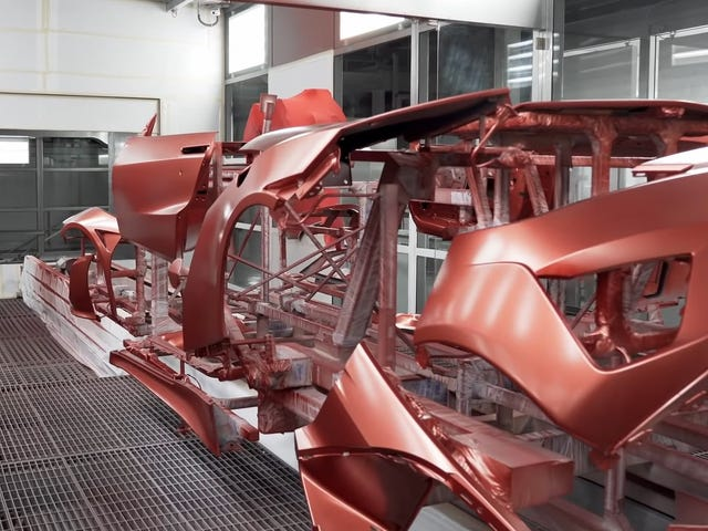 Take A Look Inside Acura's Special NSX Paint Booth