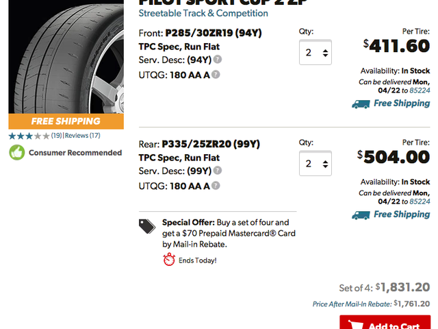 Tire Choice Considerations Pre/Post Car Purchases