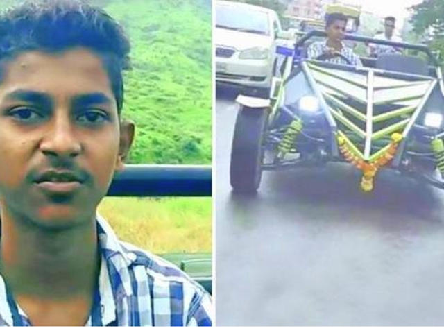 19y.o. Indian man builds his own car using mainly YouTube videos