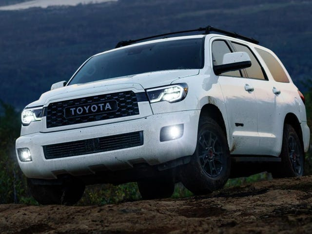So, it's a TRD Pro Sequoia. Wee.