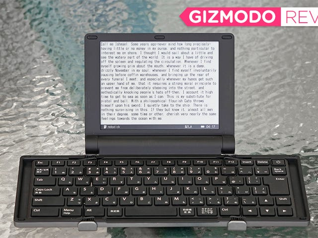 This Quirky Folding E-ink Typewriter Strips Away All of Your Fun, Productivity-Killing Distractions