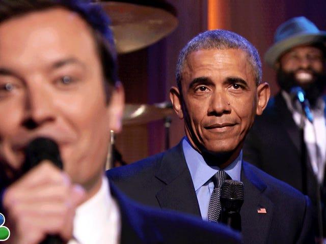 राष्ट्रपति ओबामा स्लो-जेम्ड द न्यूज विथ द रूट्स, व्हाट यू डू डू टु टुडे?