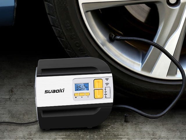 Inflate Your Tires Anywhere With This Tiny Compressor