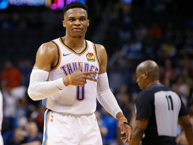 Russell Westbrook Dedicates Historic 20-20-20 Triple-Double To Slain Rapper Nipsey Hussle