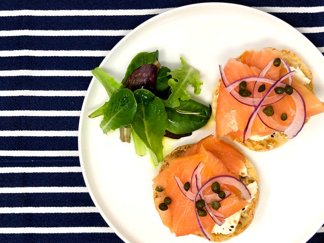 Forget bagels, put lox and cream cheese on English muffins instead