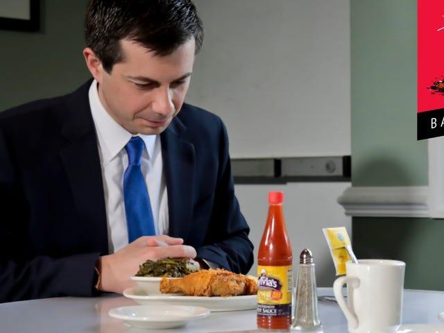Μπορώ να υποθέσω ότι ο Pete Buttigieg σκέφτεται ότι το κοτόπουλο πρέπει να τρώγεται με ένα μαχαίρι και ένα πιρούνι