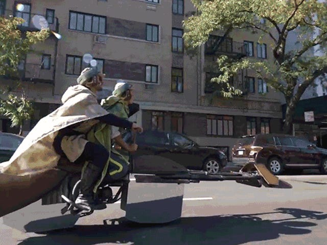A Working Speeder Bike Automatically Makes This the Best Star Wars Costume Ever
