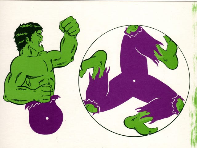 Rock out with a roll-a-run Hulk