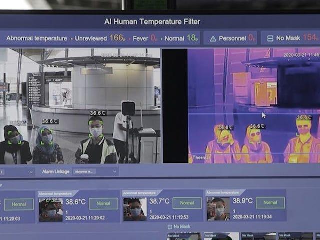 Amazon agora está usando câmeras térmicas em armazéns para identificar possíveis casos Covid-19