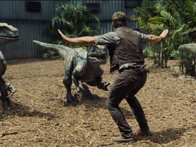 <i>Jurassic World</i> Trailer Shows Off Chris Pratt's Raptor Wrangling Skills