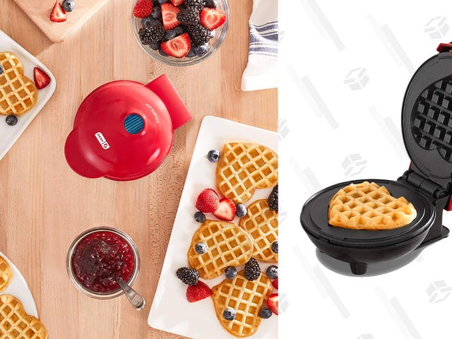 You'll Love the Price on This Heart-Shaped Dash Waffle Iron
