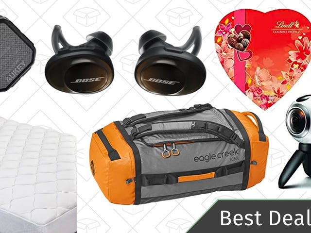 All The Best Deals: Bose Earbuds, Eagle Creek Duffel Bags, Valentine's Day Gifts, and More