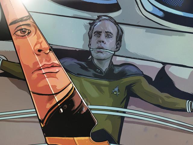 In the NewStar Trek: The Next GenerationComic, a Mirror Universe Double Agent Stalks the Enterprise