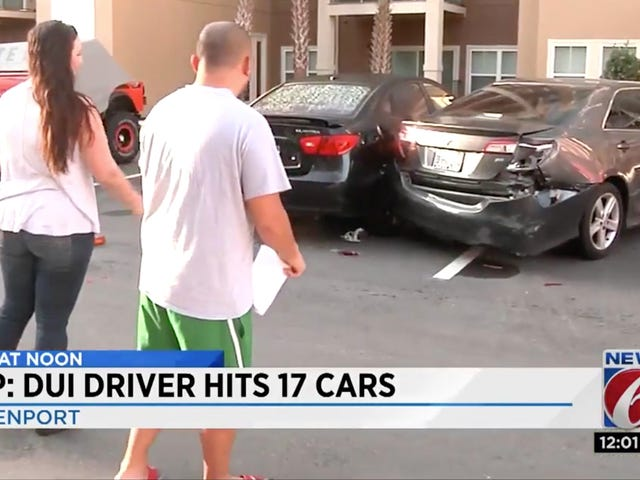 Florida Man's Horrible Parking Job Smashed 17 Other Cars