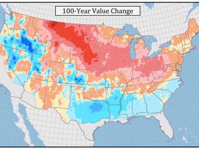 Même en dessous du sol, les températures hivernales augmentent