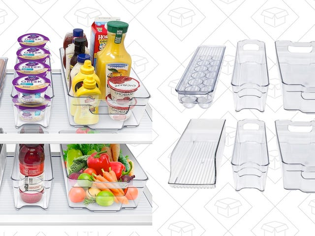 Organize Your Fridge With These $23 Stackable Containers