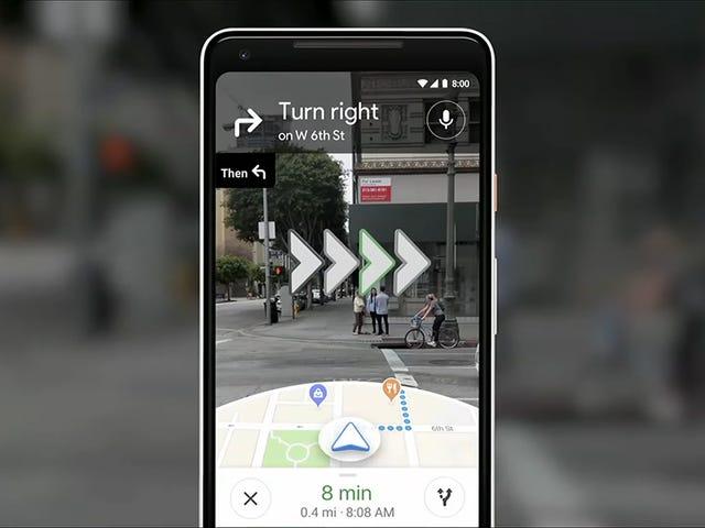 Yritin Google Mapsin kokeellisia kävelyohjeita tulevaisuudesta