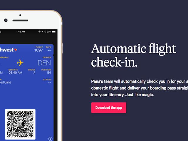 Pana एक उड़ान यात्रा योजना है जो स्वचालित उड़ान चेक-इन के साथ है