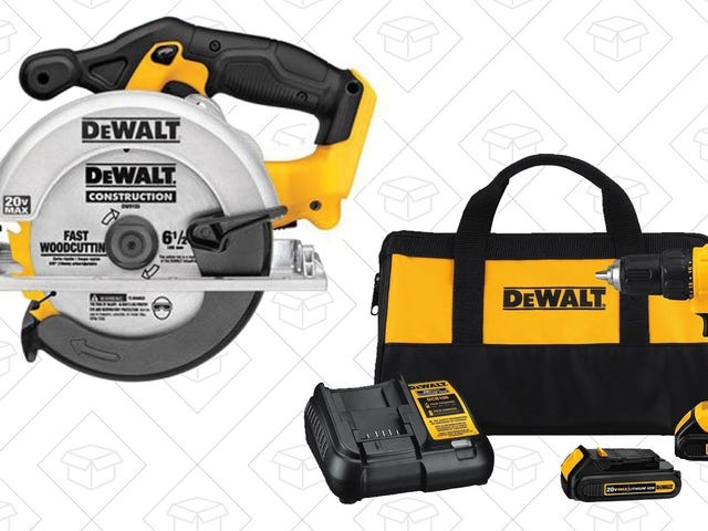 Gear Up For Your next Project With Amazon's One-Day DEWALT Deals