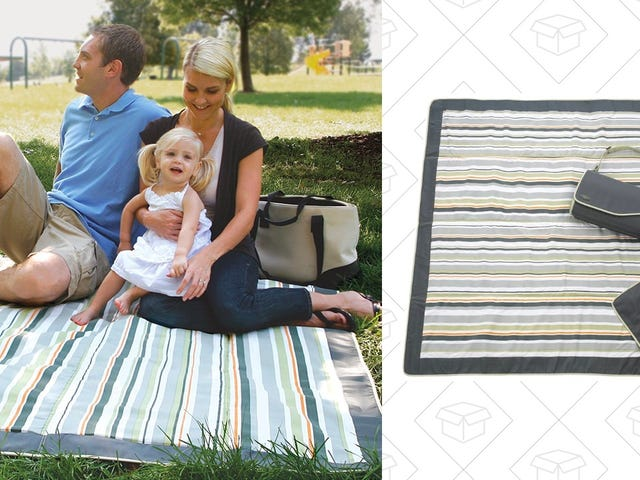 Lay Down This Waterproof Picnic Blanket For Just $17