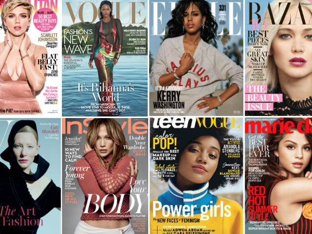 How White Are the Women's Magazine Covers of 2016 So Far?