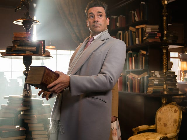 """The end is nigh,"" so we might as well enjoy Jon Hamm dressed as an angel in these exclusive Good Omens images"