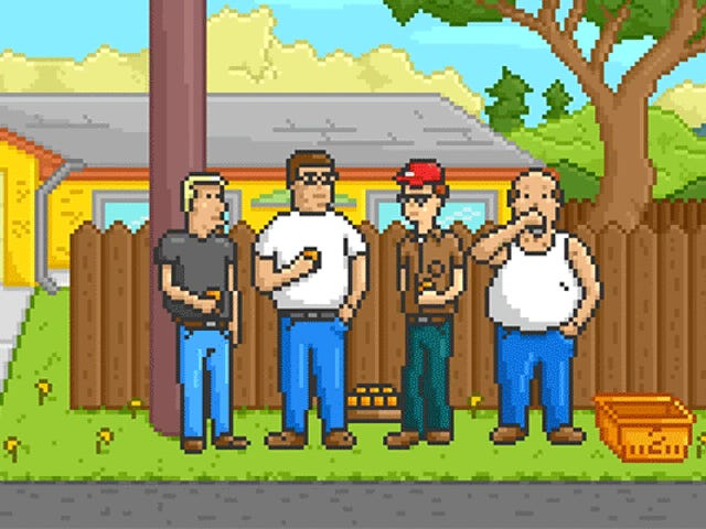 La apertura King of the Hill como videojuego es Pixel Perfect