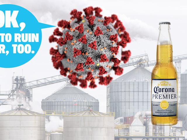 Porque todos conducimos menos debido a la pandemia que está afectando la producción de cerveza y refrescos, de alguna manera