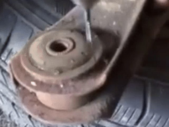 Watching This Guy Remove A Bushing With A Drill Is Completely Mesmerizing