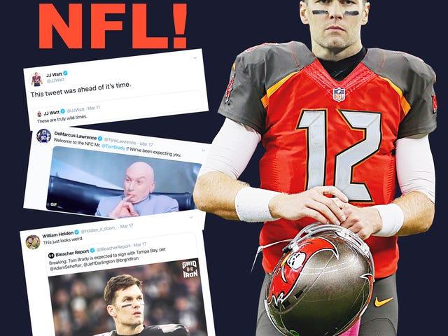 Μπράντι Πηγαίνετε στην Τάμπα; Hopkins έχουν αποσταλεί για μια τσάντα μπάλες; Οι παίκτες του NFL χάνουν το μυαλό τους λόγω της αναταραχής των κινήσεων