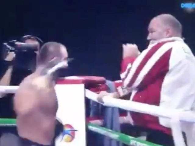 Boxer Throws Punches At His Own Cornerman After Losing Fight