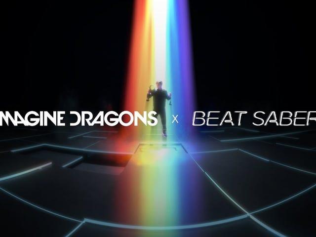 Сенсация ритма виртуальной реальности Beat Sabre бьет все самое лучшее с 10-ю наборами мелодии Imagine Dragons