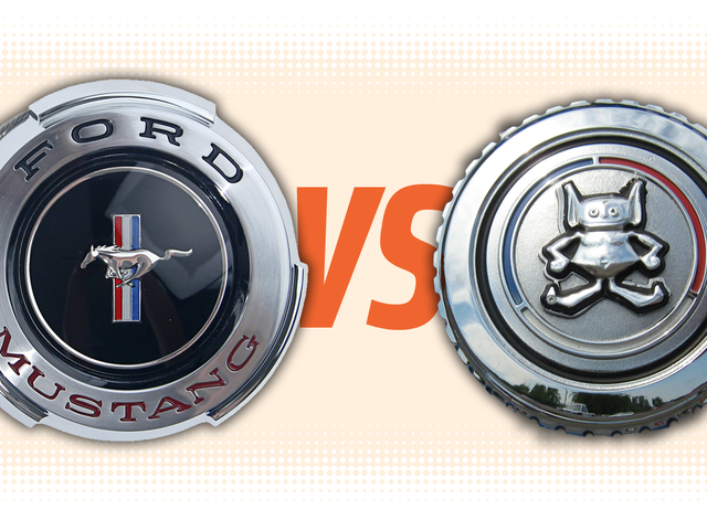 Gas Cap Challenge: Ford Mustang Vs. AMC Gremlin