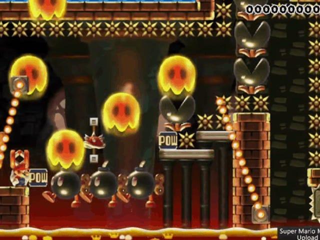 इस कैज़ो <i>Mario Maker</i> लेवल में हर एक सेकंड मैटर्स