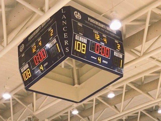 लड़कियों हाई स्कूल बास्केटबॉल खेल 108-1 समाप्त होता है