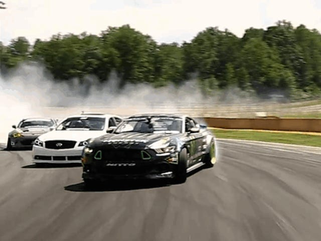 These Three- and Four-Car Tandem Drifts On Road Atlanta Will Blow Your Mind