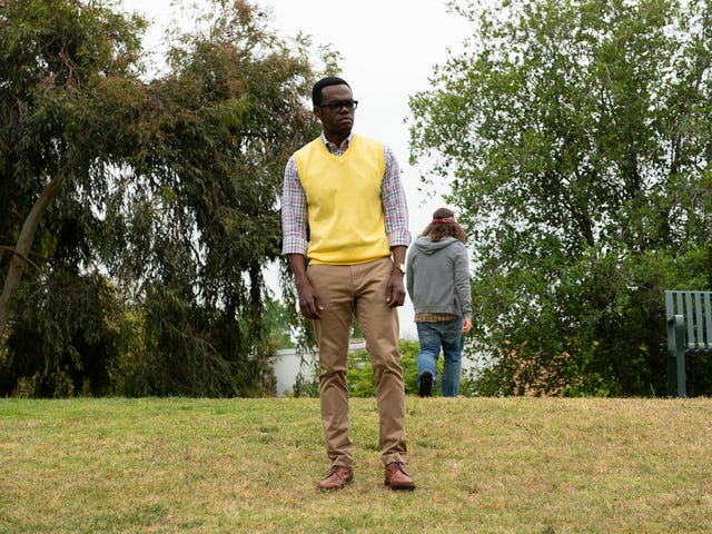 A stunning The Good Place looks into the abyss and discovers grace