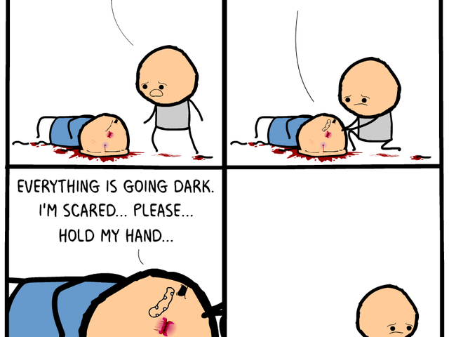 HA. HAHa. haha. ha. ... man this is dark