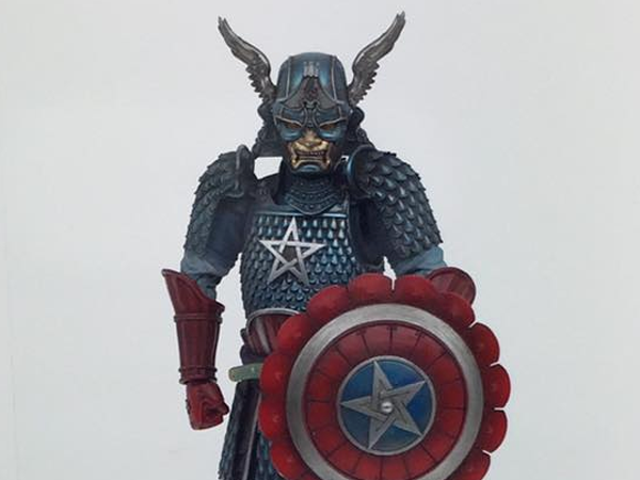 Try Not to Think Too Much About This Weird and Wonderful Samurai Captain America Figure