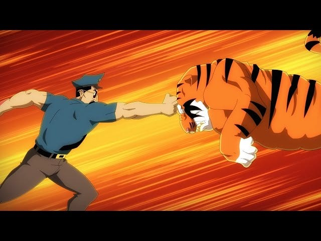 War Between Tigers And Sharks Erupts In This New Axe Cop Trailer