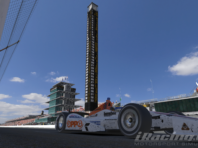Team Oppo Competes in the iRacing Indianapolis 500