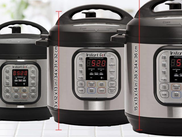 Three Sizes of Instant Pot. Three All-Time Low Prices For Day 2 of Prime Day.