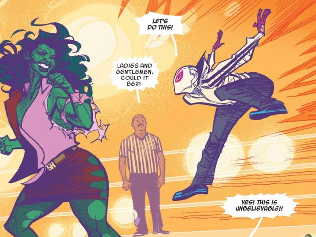 Spider-Gwen , Peter Parker'ın Origin Hikayesine Eğlenceli Bir Büküm Ekliyor