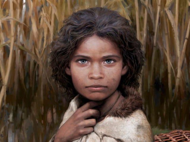 Forskere genopbygger 'Lola' efter at have fundet hendes DNA i 5.700 år gammelt 'tyggegummi'